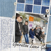 Opération Laser Game (left page)