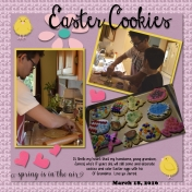 Easter 2016 Cookies with Grandsons