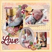 Cuddling with Grannie