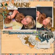 Cuddles with Maisie