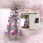 Christmas in pink & purple