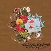 Origami snowmen
