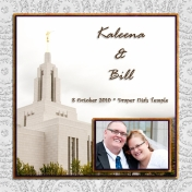 (wedding book page 1) Kaleena & Bill