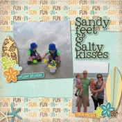 sandy feet & salty kisses