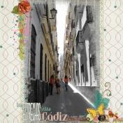 las estrechas calles de cádiz