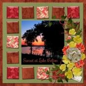 Sunset on Lake Belton