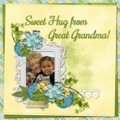 Sweet Hug from Great Grandma