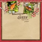 The Queen reigns in the garden!