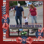 Enjoying his first parade in SMALL TOWN USA (jcd)