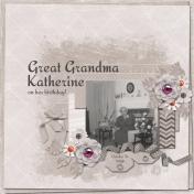 Great Grandma Katherine on her birthday (jcd)