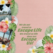 We do not travel to Escape Life...