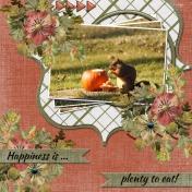 Happiness is... plenty to eat! TSbyG