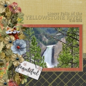 Lower Falls of the Yellowstone River TS by G