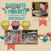 Pancakes & Presents (Thrifty Scraps)