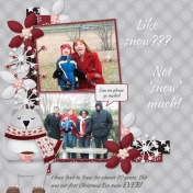 Like snow???- not 'snow' much (Thrifty Scraps)