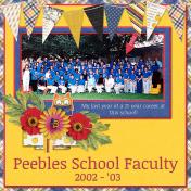 Peebles School Faculty 2002 - 2003 (JDunn)