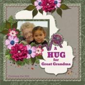 A HUG for Great Grandma