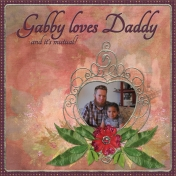 Gabby loves Daddy and it's mutual!