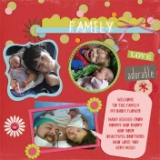 Family- Welcome Baby Flower