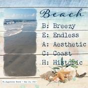 Morning Walk St. Augustine Beach
