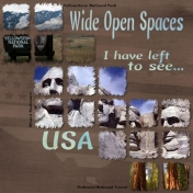 Wide Opens Spaces- Bucket List