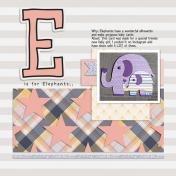 Album Challenge- E is for Elephant
