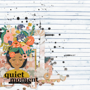 July Collage Kit - Quiet Moment