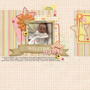 Layout Templates Kit #74 - Welcome Baby Girl