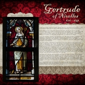 Family History Layout- Gertrude of Nivelles