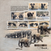 Elephant Bath at Nwatimhiri Dam
