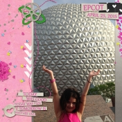 My daughter at Epcot