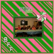 My Granddaughters 13th Birthday Party LO #2