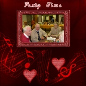 """Aunt Lucille's 95th Birthday Party layout #2 titled """"Party Time"""""""