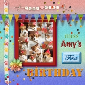 Miss Amy's first Birthday