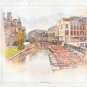 Painted Cambridge England