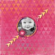 Pink Minimalist Triangles