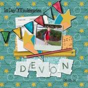 Devon's 1st Day of Kindergarten