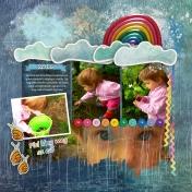 Little girl and the rain