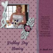 Wedding Day Memory