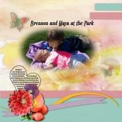 Brennon and Maya at the park