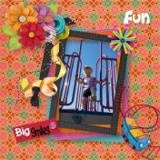 Aliya playing on the slide