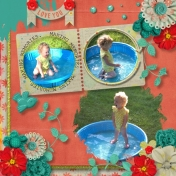 Aliya swims at Grandma's