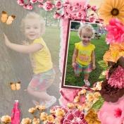 Aliya plays in the park