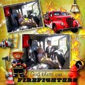 Firefighter Brennon and Aliya