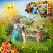 Fall Child Aliya and Maya