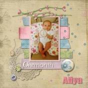1 month old Aliya