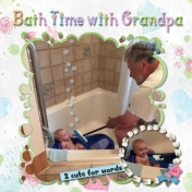 Bathtime with Grandpa