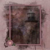 Lighthouse Photo Composite Scrap Page