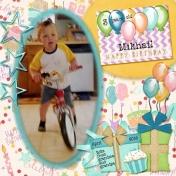 Mikhail's birthday bike
