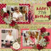 Addie's 77th bday